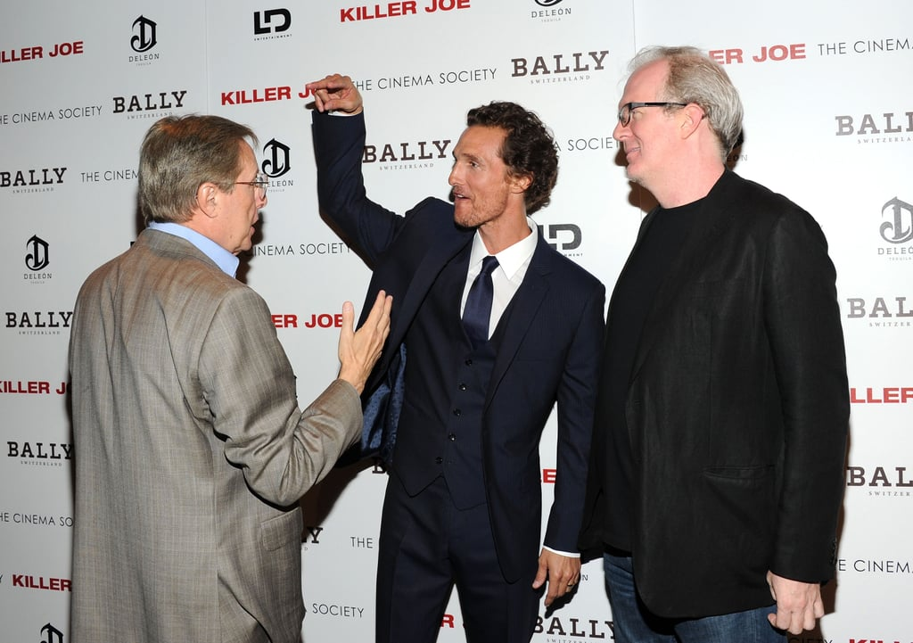 Matthew McConaughey was greeted by William Friedkin and Tracy Letts at a screening of Killer Joe.