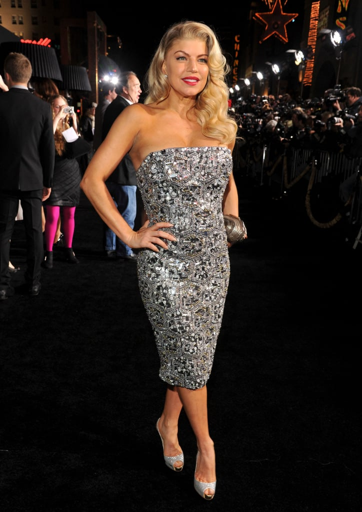 Fergie shined in a silver dress.