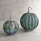 Pier 1 Imports Blue & Green Mosaic Pumpkins