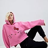 Hello Kitty X ASOS Cropped Hoodie With Face Embroidery ($56)