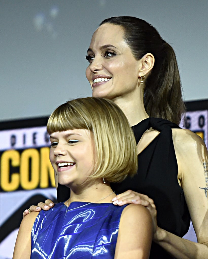 Pictured: Lia McHugh and Angelina Jolie at San Diego Comic-Con.
