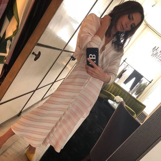 Victoria Beckham Deciding Between Heels on Instagram