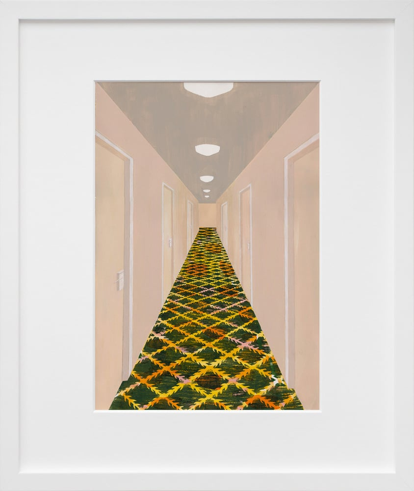 """""""Hallway, Grand Rapids, MI"""" ($24 and up, depending on size) by Carolyn Swiszcz was inspired by a hallway from the Homewood Suites in Grand Rapids, MI."""