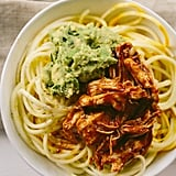 BBQ Shredded Chicken and Squash Noodles
