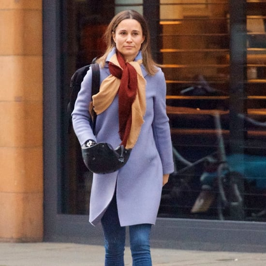 Pippa Middleton Wearing a Lavender Coat