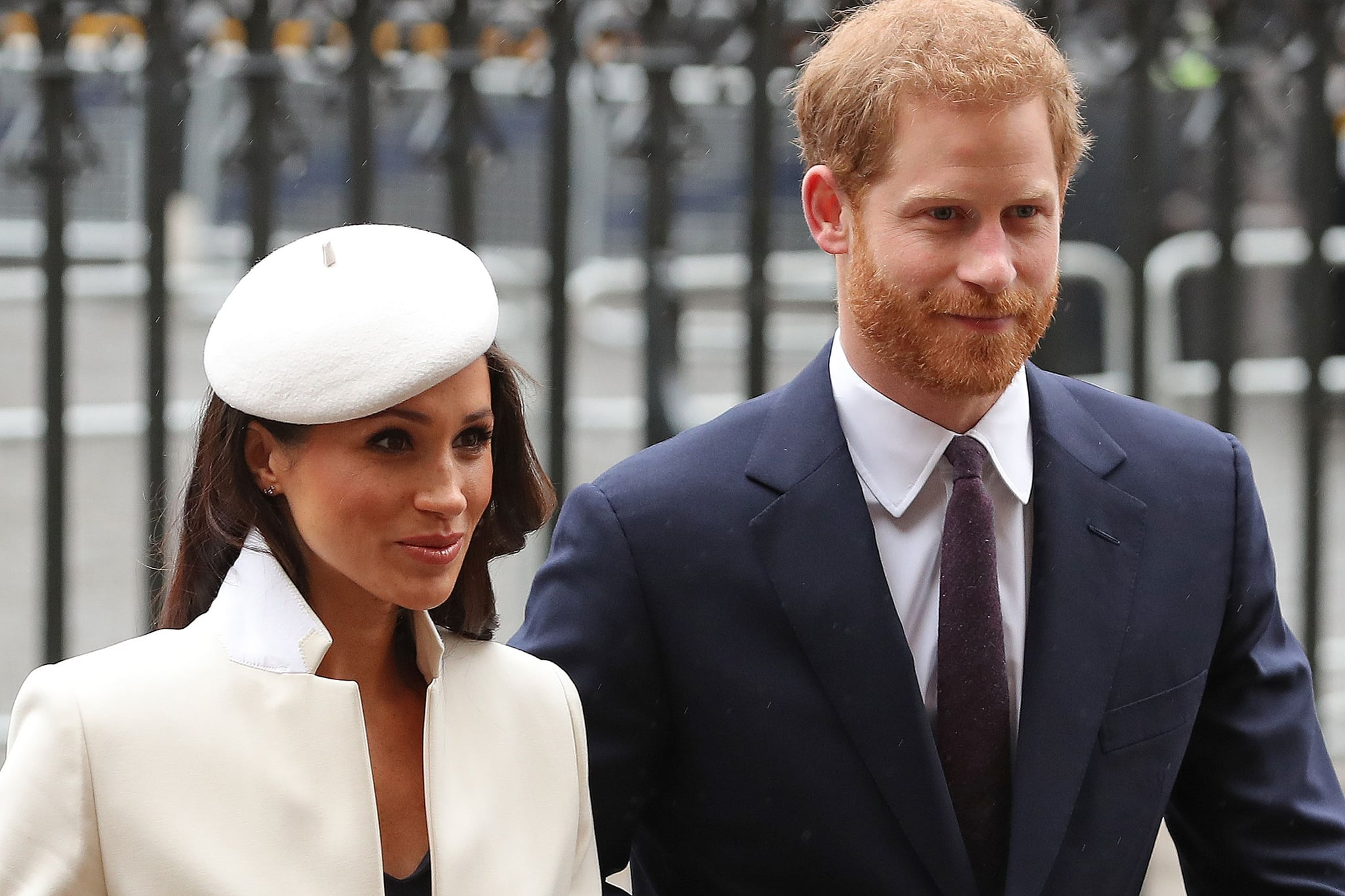 Britain's Prince Harry (R) and his fiancee US actress Meghan Markle attend a Commonwealth Day Service at Westminster Abbey in central London