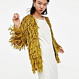 Zara Macramé Cardigan With Fringing