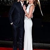Sam Claflin brought his wife, Laura Haddock, to the premiere.