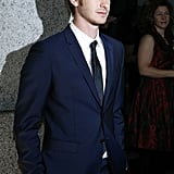 Andrew Garfield headed into a gala in NYC.