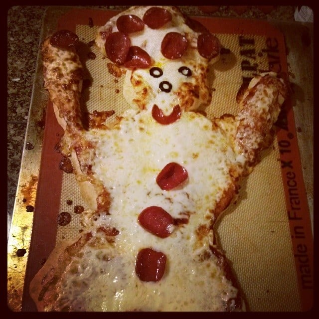 Snow-Ghost Pizza