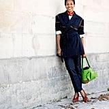 Tamu McPherson at Paris Fashion Week