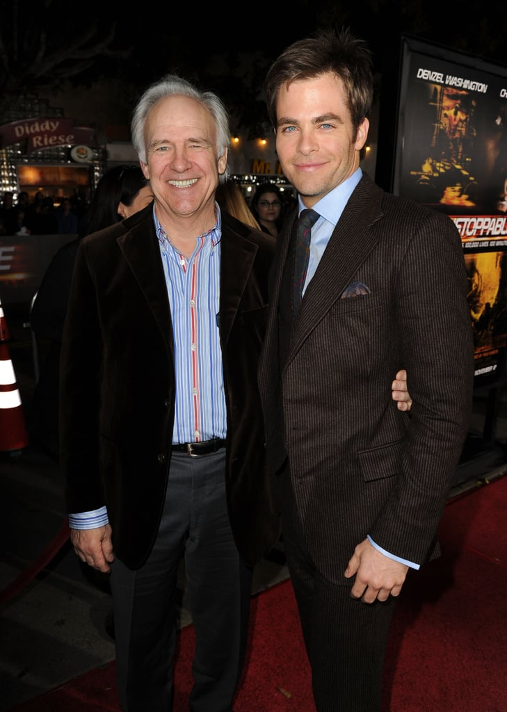 "Chris Pine has been making us swoon since he first burst onto the scene in the 2006 romantic comedy Just My Luck, but his very first TV appearance actually happened when he was just 3 years old. In case you weren't aware, Chris's dad is none other than Robert Pine — the actor who famously played Sgt. Joseph Getraer on NBC's CHiPs in the late '70s and early '80s — and in 1983, Chris joined his dad on the show as a boy named Christopher. The two teamed up for an adorable duet of ""Hurry, Hurry Climb the Ladder"" and melted hearts everywhere. Of course, this isn't the only glimpse we've gotten of their close bond. Robert often steps out to support his son at his movie premieres, and back in May 2014, the veteran actor said he knew ""from the very first moment"" that Chris would make it big in Hollywood. Aw!      Related:                                                                                                           10 Lucky Ladies Who've Been Romanced by Chris Pine"