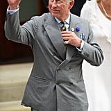 "After meeting his grandson, Prince Charles told reporters, ""Everything's marvelous. You'll see in a minute."" He also issued a statement about ""grandparenthood,"" saying it was ""a unique moment in anyone's life"" and that he was ""enormously proud and happy."""