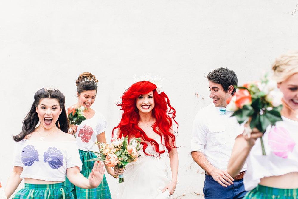 Hipster Little Mermaid Wedding