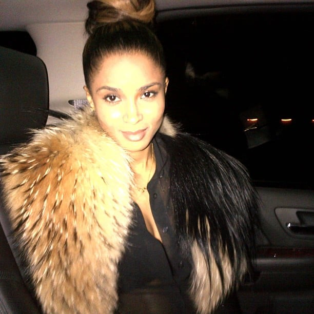 Ciara got dolled up for a night out on the town. Source: Instagram user ciara