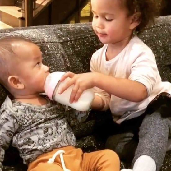Chrissy Teigen's Video of Luna Feeding Miles