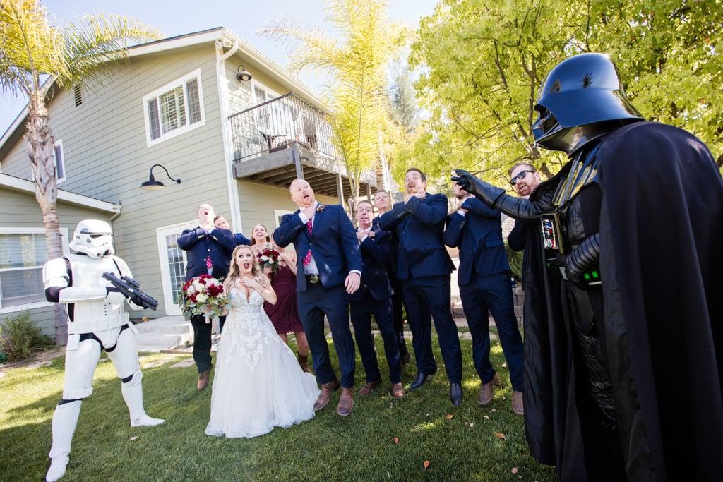 Star Wars Wedding.Star Wars Themed Vineyard Wedding Popsugar Love Sex
