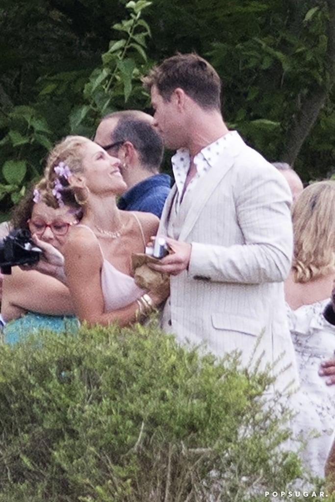 chris hemsworth and elsa pataky at brothers wedding 2018