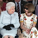 Queen Elizabeth II Sat Front Row at London Fashion Week