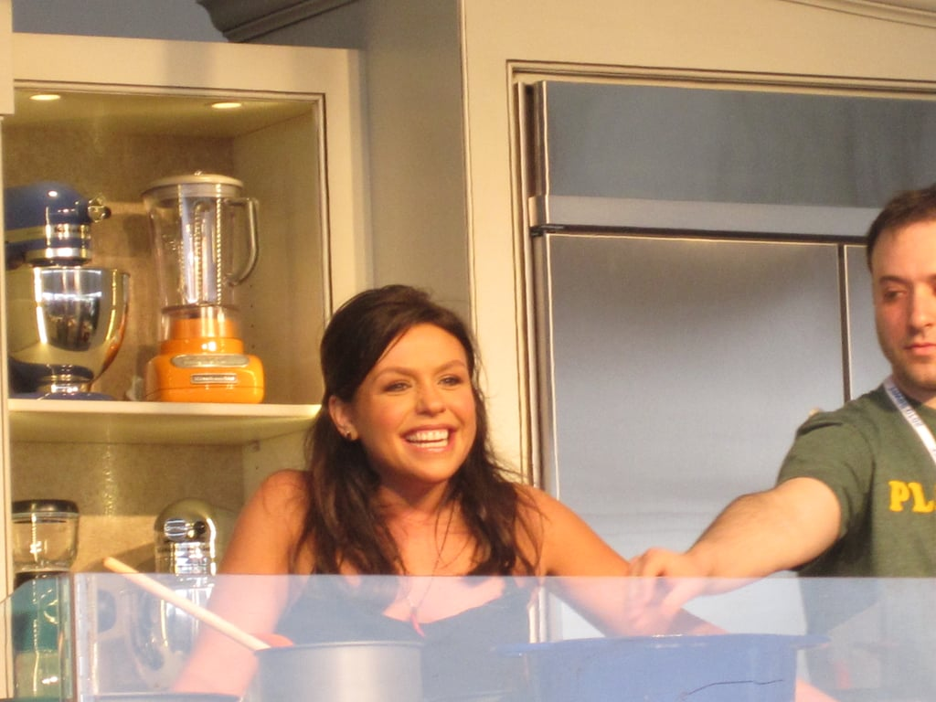 Rachael Ray cracks a smile at her demo.