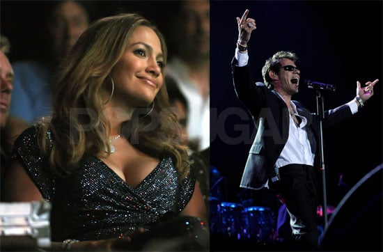Photos of Jennifer Lopez at a Marc Anthony Concert in Madrid