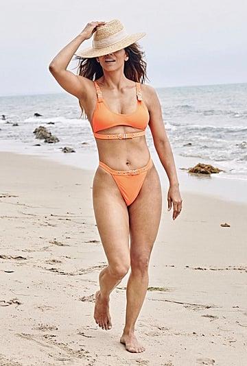 Halle Berry Wearing an Orange Belted Bikini From Boohoo