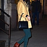 Unlike Our Own Denim Outfits, Taylor's Mix Totally Unexpected Colors Together