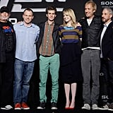Marc Webb, Andrew Garfield, Emma Stone, Avi Arad, Rhys Ifans, and Matt Tolmach got together at a press conference for The Amazing Spider-Man in Seoul.