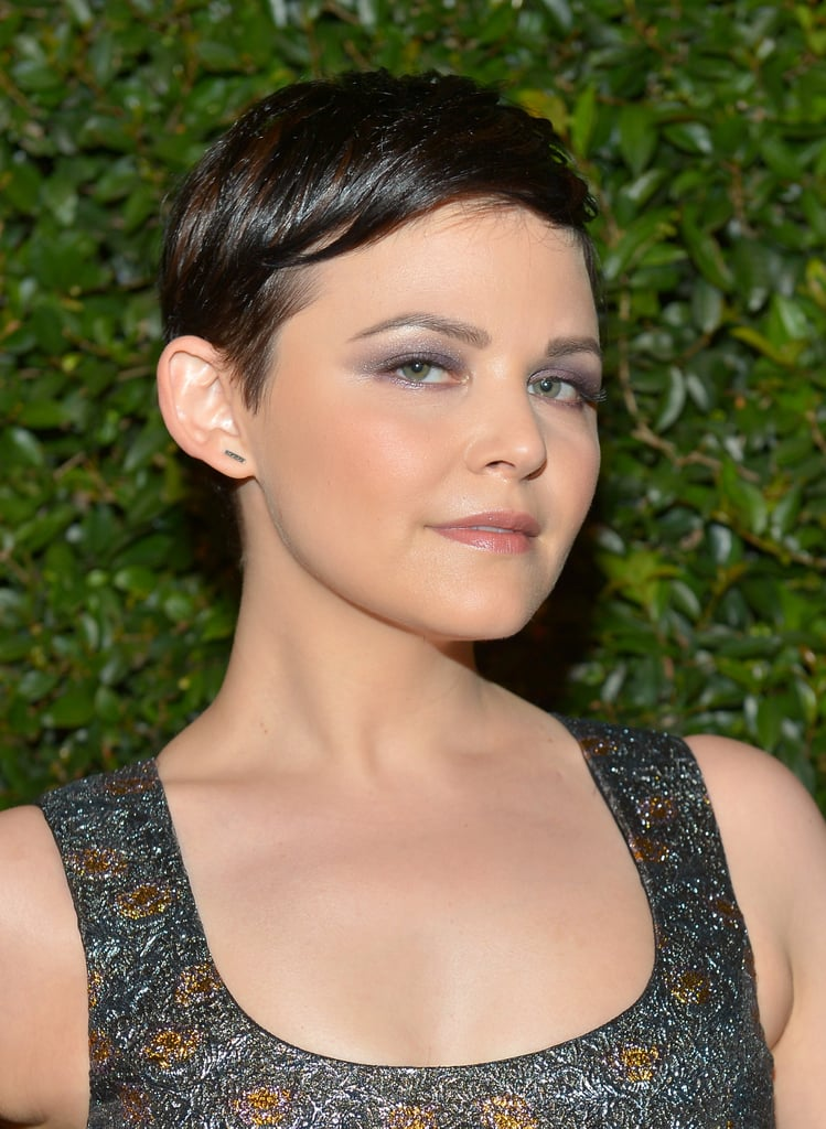 To create Ginnifer Goodwin's lavender smoky eye, makeup artist Mai Quynh applied Shiseido Shimmering Cream Eye Shadow in Ice ($44) from lash line to crease. She then blended the dark and medium purple shadows from YSL Ombres 5 Lumières in 4: Lilac Sky ($99) into the crease and upward before smudging the dark purple along Ginnifer's lower lash line.