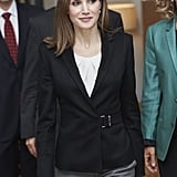 Queen Letizia of Spain attended an event on Thursday in Madrid.