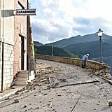 Damage from Arquata del Tronto