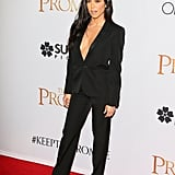 Rocking a Classic Pantsuit at a Red Carpet Event