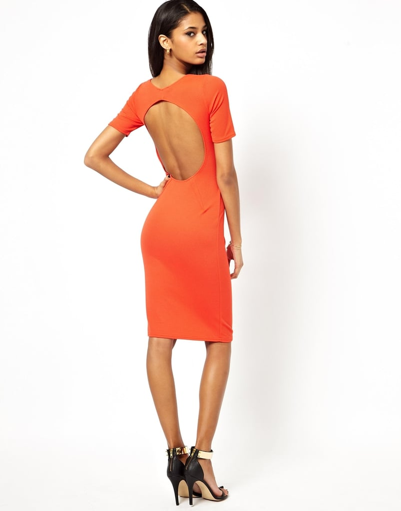 ASOS Oh My Love Orange Bodycon Dress With Keyhole Back ($31, originally $49)
