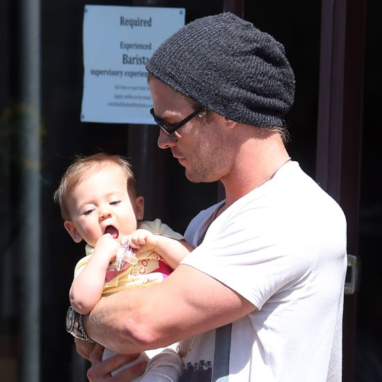 Chris Hemsworth Family Pictures in Sydney With Elsa & India