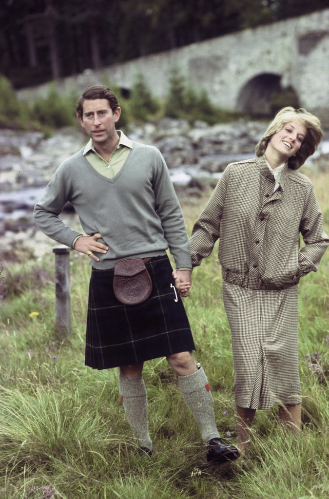 The royals shared a candid shot of their 1981 honeymoon in Scotland.