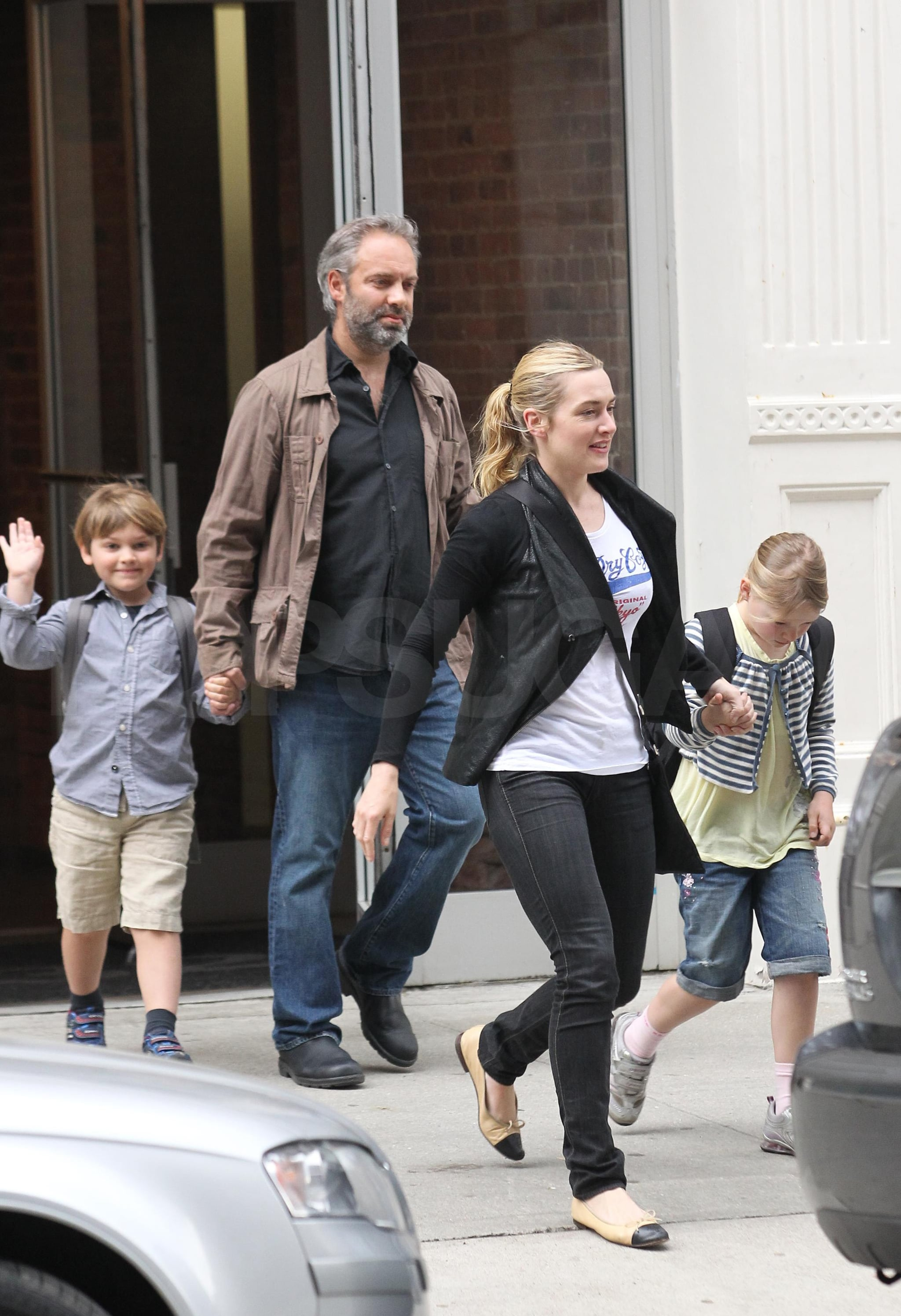 Big Joe Auto >> Photos of Kate Winslet, Sam Mendes, Joe Mendes, and Mia Threapleton Together in NYC | POPSUGAR ...