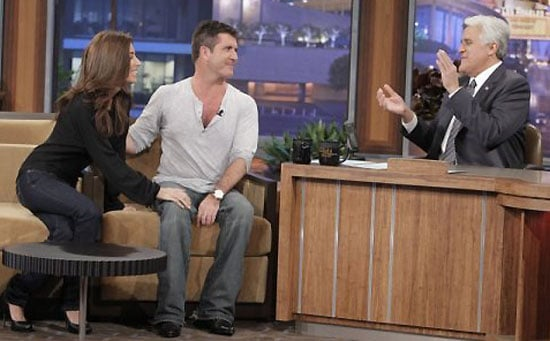 Photos of Simon Cowell and Mezhgan Hussainy on The Tonight Show with Jay Leno