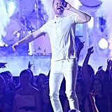 Dan Reynolds from Imagine Dragons performed.