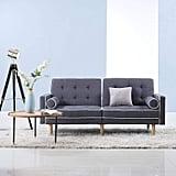 Duvano Roma Furniture Mid-Century Modern Futon