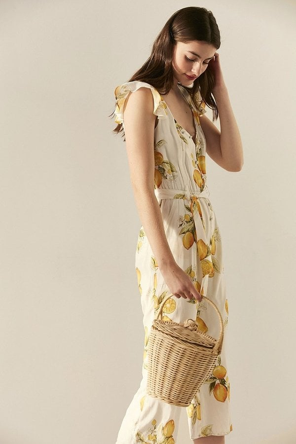 Urban Outfitters Roseanne Straw Bucket Bag