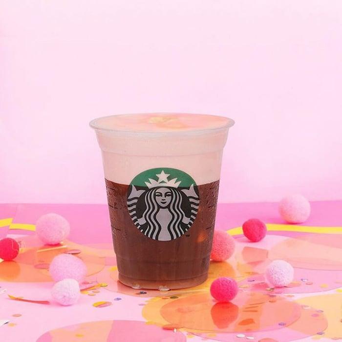Strawberry Cold Foam Iced Espresso