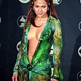 Jennifer Lopez YouTube Video About Her Grammys Versace Dress