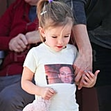 Seraphina Affleck with a cute t-shirt.