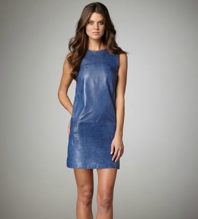 Get into full rocker mode via slick leather pieces.  Vince Leather Shift Dress ($477, originally $795)