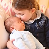Charlotte Wearing the Cardigan in Her First Portrait With Prince Louis