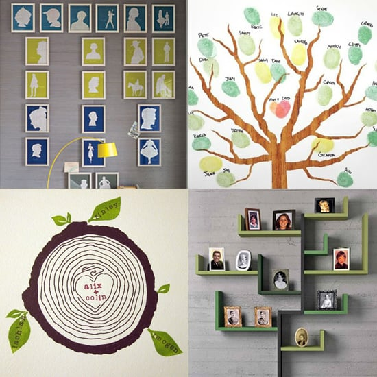 Unique Family Tree Ideas Modern family tree ideas popsugar moms