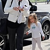 Jennifer Garner and Seraphina Affleck were out and about near their LA home.