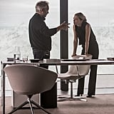 Director Sam Mendes and Seydoux on the set.