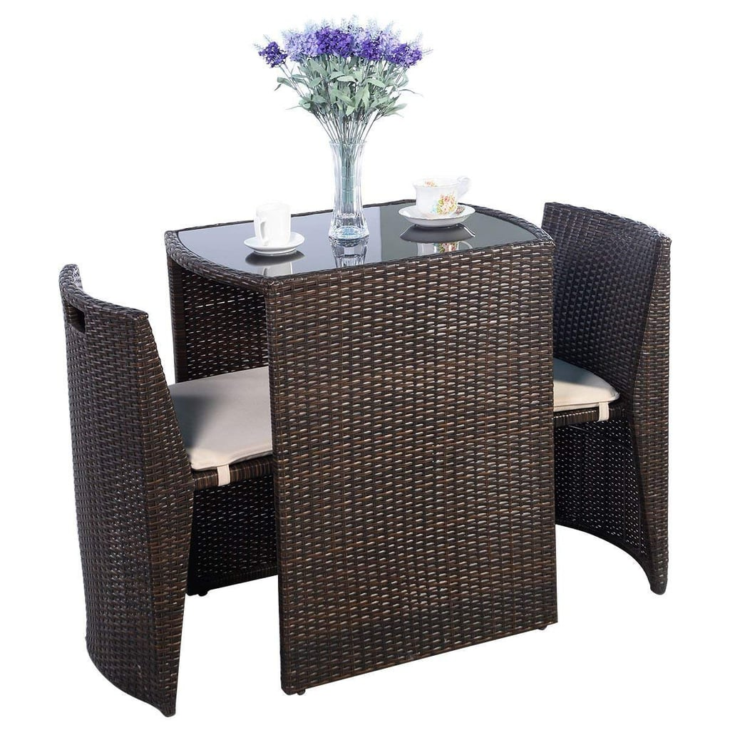 Giantex Cushioned Outdoor Wicker Patio Set