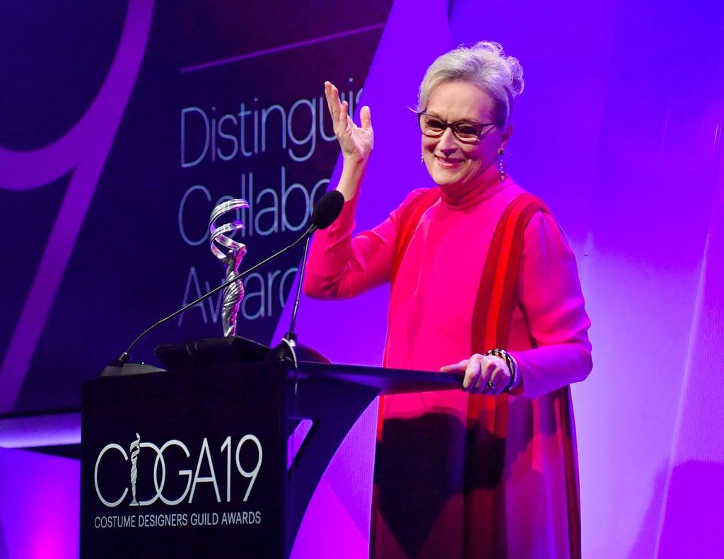 Meryl Streep at Costume Designers Guild Awards February 2017